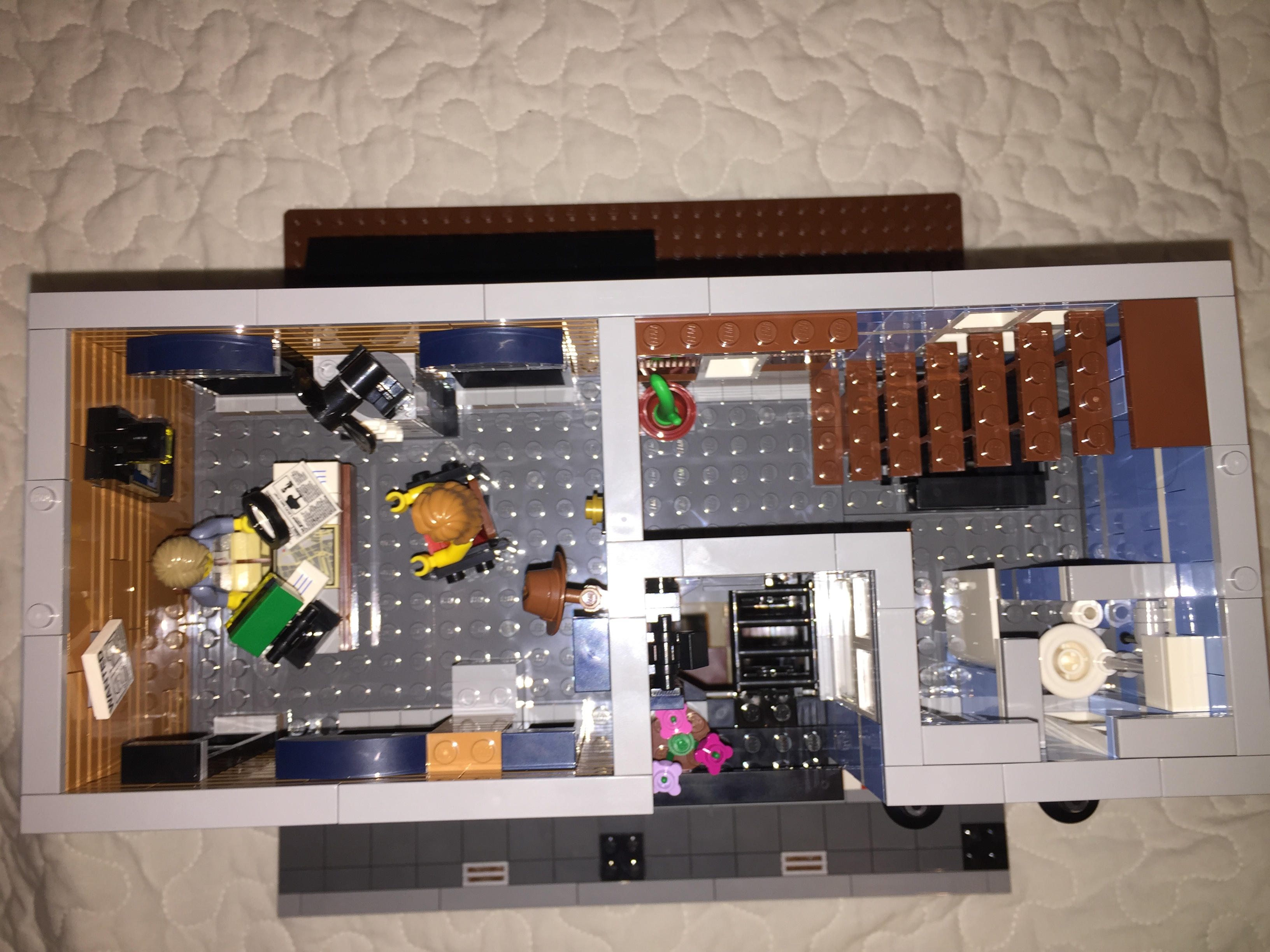 office lego. the third build section builds entire first floor which is tied together with stairs from ground left part features detectiveu0027s office lego